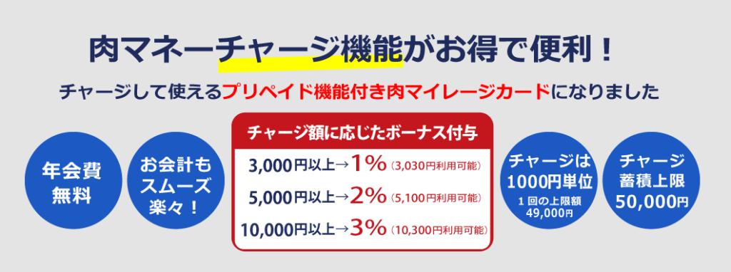 いきなりステーキの「肉マネーチャージ機能」