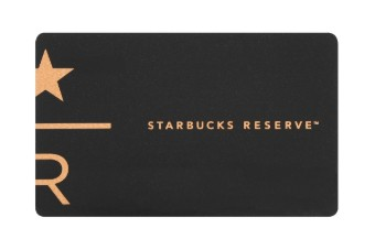 RESERVE店舗限定 スターバックスカードの例