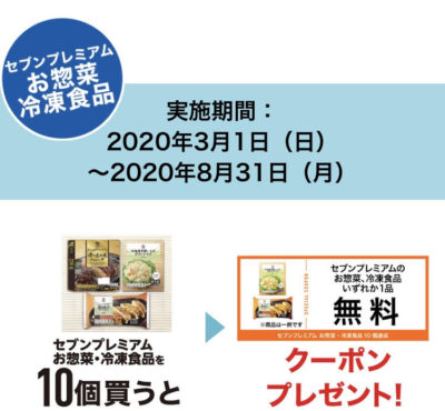 セブンイレブンお惣菜・冷凍食品クーポン