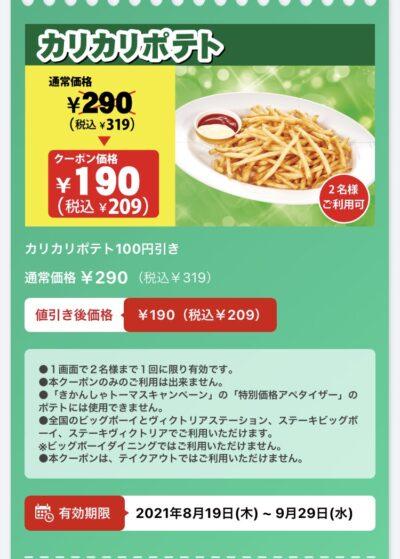ビッグボーイカリカリポテト110円引き
